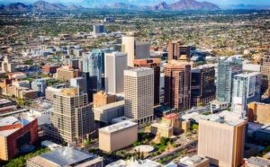 Downtown Phoenix Aerial View